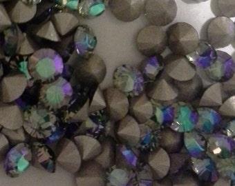 36 pp31 Black Diamond AB ss16 4mm Chaton Art 1028 Swarovski 4mm Black Diamond ab 31pp Black Diamond ab pp31 Sale Codes Available
