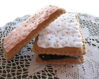 Frosted Poptarts, Iced  Poptarts with sprinkles, Felt Play food, Pretend Food