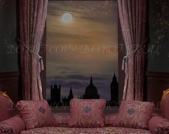 Pink Room Window background for your scrapbooking and photo projects