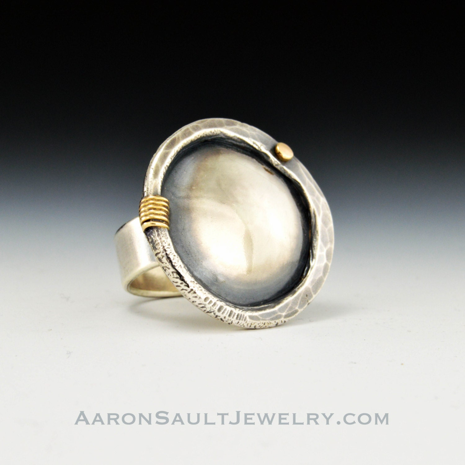 Hammered Shield Ring