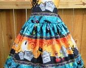ON SALE Ready to Ship Custom Boutique Halloween Girl Jumper Dress 6  Slim 7