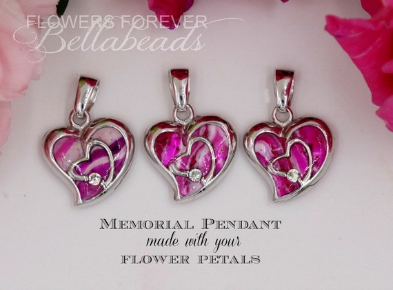 funeral flower jewelry memorial flower petal jewelry funeral flowers made to 3274