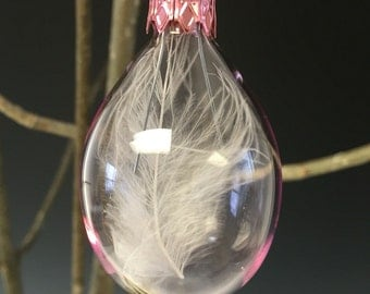 Pink Feather Egg Ornament
