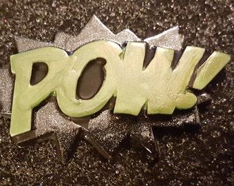 POW, POW clip, Pow barrette, Comic, Comic clip, Comic barrette, MsFormaldehyde, Comic patch