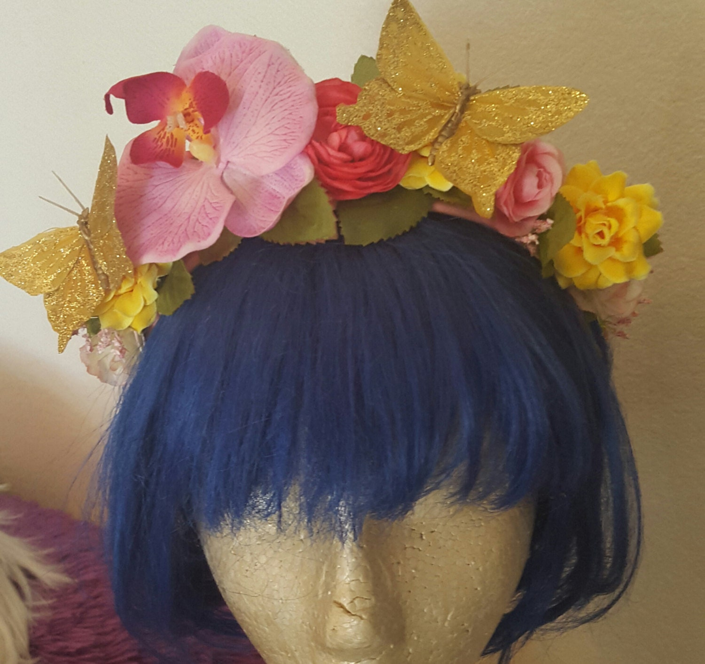 Fairy Nymph Ren Faire Flower Crown Floral Crown Rose Crown