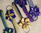 2 keychains with flower