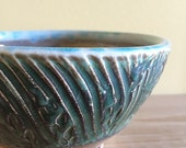 Green Carved Bowl