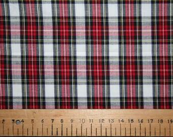 Dress Stewart style tartan cotton fabric 0.50 metre
