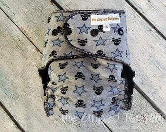 Skulls N Stars- OS Hybrid Fitted Cloth Diaper