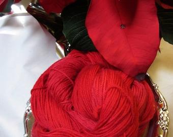 Poinsettia Hand Painted Luxury Sock Yarn