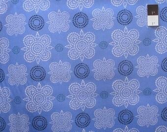 Ty Pennington SATY006 Home Decor Taj Blue Sateen Fabric By The Yard