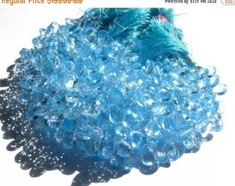 55% OFF SALE 1/2 Strand -- Genuine Sky Blue Topaz Faceted Pear Briolettes 10x8 - 11x8mm Approx (Get 25 Percent Discount)
