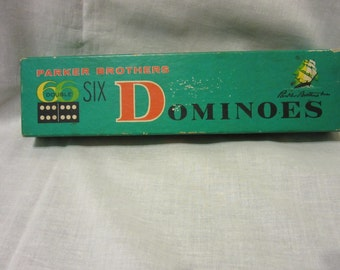 Vintage Parker Brothers 66 Double Six Sailing Ships Dominoes