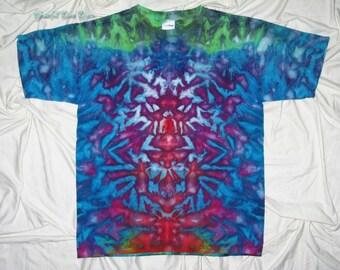 tie dye, xl youth tee, ice dye, grateful dan dyes, inkblot ice dye, funky dyes, kids tie dye