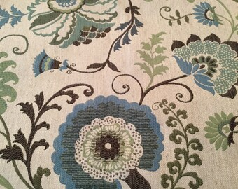 Beautiful Floral Embroidery Fabric Heavy Weight Fabric - 2 yards
