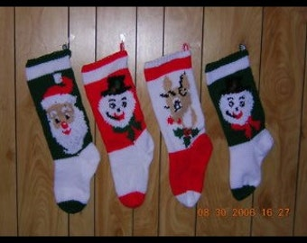 Christmas Stocking  Hand Knitted