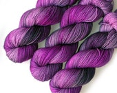Euro Sock SW Merino Sock Yarn Handdyed, Silver Orchid, 435 yards