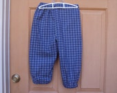 Childrens knickers, blue plaid for Newsies, pirates, colonial lads, size child 7