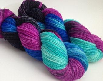 Hand Dyed Yarn - Anna - Superwash Merino Worsted - Ready to Ship - Vivid Yarn Studio