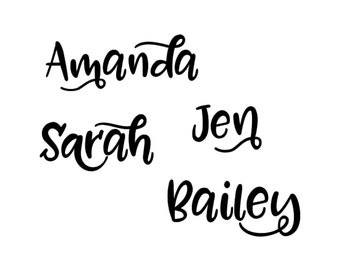 Name Decal in your choice of vinyl color - Name decal for computer, Name Decal, Name Lunchbox Decal, Name Cup Decal, Name Stickers