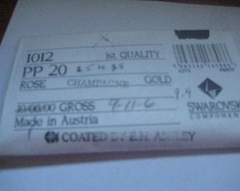 Lot of 144 PP20 Rose Champagne Article 1012 Swarovski Rhinestones Coated by EHAshley