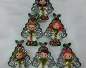 Vintage Tree Cookie Cutter Christmas Ornaments Singing Christmas Tree Carolers