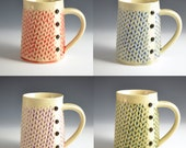 Knitted mug Handmade ceramic mug for Holidays MADE to ORDER