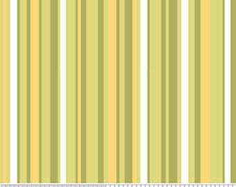 Decadence by Riley Blake, Stripe in Green - 1 Yard - Reduced
