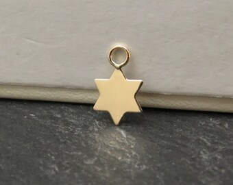 Gold Filled Star Charm 9mm (CG8178)