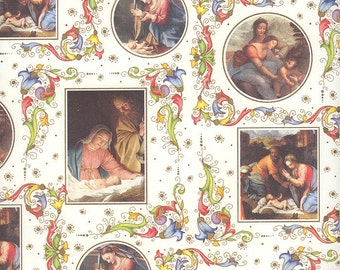 Italy Renaissance Nativity Florentine Christmas Paper ~ Kartos Italy IP K 195