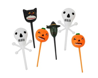 Retro Halloween Cupcake Picks 12 - vintage halloween cupcake toppers