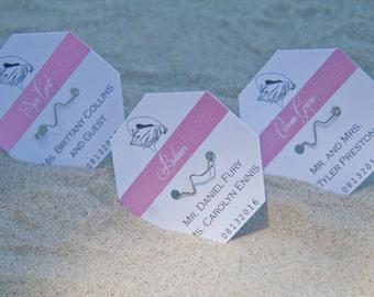 Beach Badge Wedding Place Cards Deposit