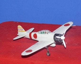 Miniature  Metal WWII airplane. Bubble top canopy.