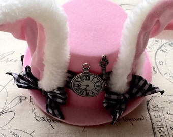 Mini Top Hat Headband, The Rabbit Hat, Mad Hatter, Tea Party, Costumes, Onederland, Alice In Wonderland, Smash Cake, Party Favors, Bows