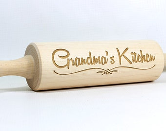 Personalized Rolling Pin,Engraved Rolling Pin,Wedding Gift,Kitchen Favor,Bridal Shower Favor,Grandmas Kitchen