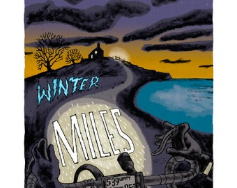 Winter miles 6 of 100 giclee signed  by  illustrator Chris Watson
