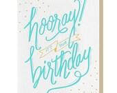 Letterpress 'Hooray' Card