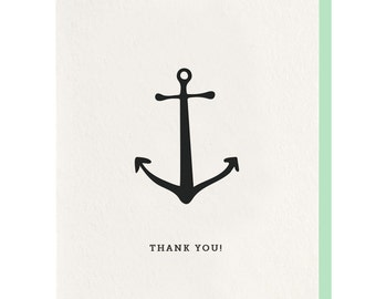 Letterpress 'Thank You Anchor' Greeting