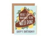 Here's to Another Year Well Done Illustrated Card//1canoe2