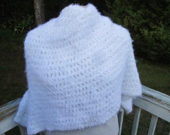 Fluffy White Wrap
