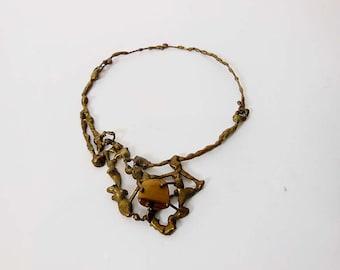 1960s necklace / Vintage 60's Mid Century Modernist Organic Necklace