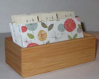 SALE PRICED.LIMITED Time ...Address Card File…Bamboo...Address Book...Wedding Guest Book Alternative...Printed Address Cards