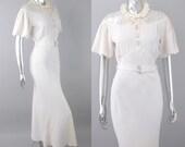 Silver Screen rhinestone key dress | 1930s dress | vintage 30s dress