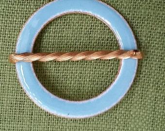 vintage enamel circle pin