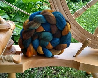 Blue Shoes Hand Dyed Merino Wool Roving 4.3 oz