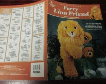 Plastic Canvas Patterns Furry Lion Friend Annie's Attic 872131 Mary Layfield Plastic Canvas Pattern Leaflet