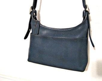 COACH Blue Bag  Shoulder Bag  in Blue Leather