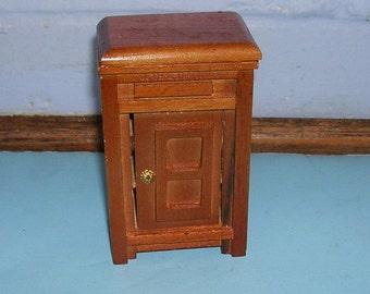 Vintage Dollhouse Icebox Refrigerator Vintage Miniature Icebox Refrigerator
