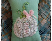 Little Tweed Pumpkin Pillow Girly Decor Ready to Ship