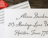 Address Stamp, Self Inking Return Address Stamp, Return Address Stamp Self Ink, Custom and Personalized Stamp, Wedding Gift - 1028
